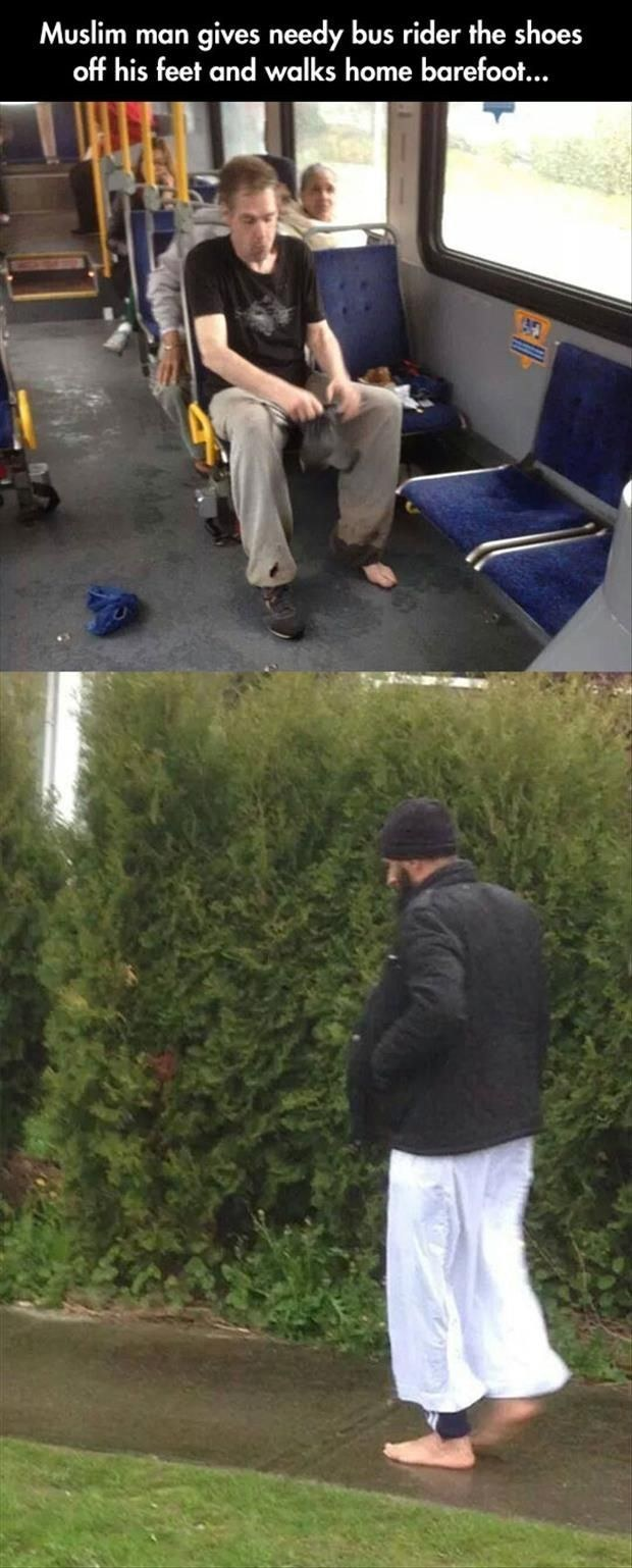 randome-acts-of-kindness-muslim-man-gives-his-shoes-to-a-man-on-bus