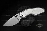 STRIDER 美国挺进者 MSC Mick Strider 米克定制款 石洗钛柄 灰色全刃战术折刃