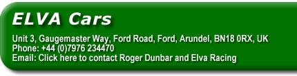 Click here to contact Roger Dunbar and Elva Racing