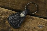 Van Amburg Leathers 梵·安贝格  深灰色短吻鳄皮质手工钥匙挂扣