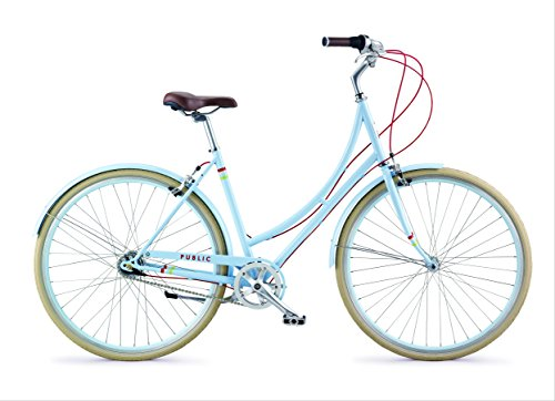 PUBLIC Bikes C7i Dutch-Style Commuter Bike, 16 inch / Small-Medium, Powder Blue