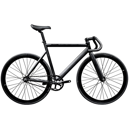 State Bicycle Black Label 6061 Aluminum Fixed Gear Bike, 52cm/Small, Matte Black