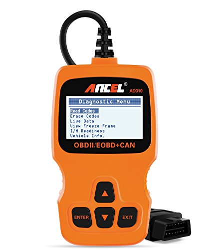 Ancel AD310 Classic Enhanced Universal OBD II Scanner Car Engine Fault Code Reader CAN Diagnostic Scan Tool, Read and Clear Error Codes for 1996 or Newer OBD2 Protocol Vehicle (Orange)