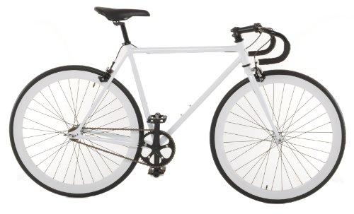 Vilano Small (50cm) Attack Fixed Gear Bike Track Bike, White