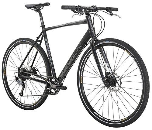 Diamondback Bicycles 2016 Haanjo Metro Complete Commuter Bike, 56cm/Large, Black