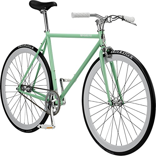 Pure Fix Original Fixed Gear Single Speed Bicycle, Victor Celeste Green/Ghost White, 47cm/X-Small