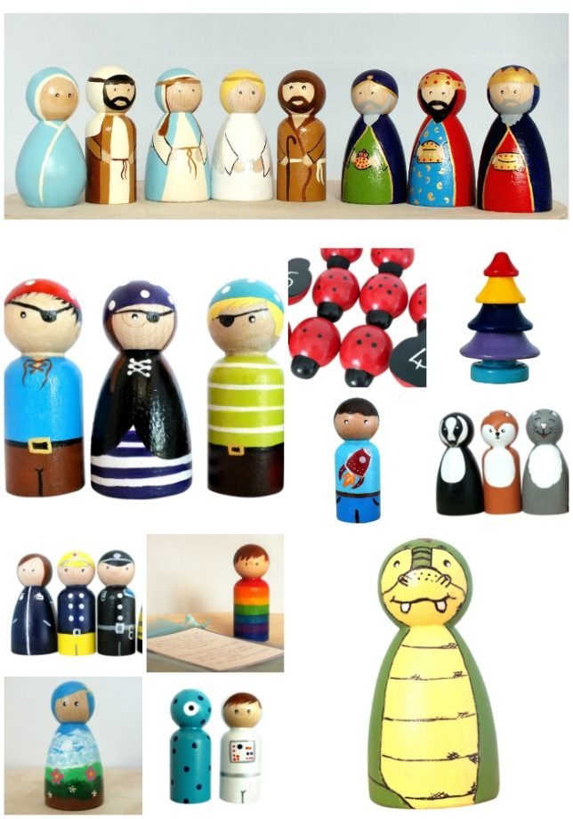 Wooden Peg Dolls UK