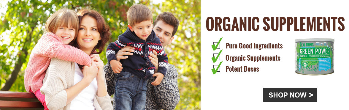 Shop the Real Thing Organic Supplements