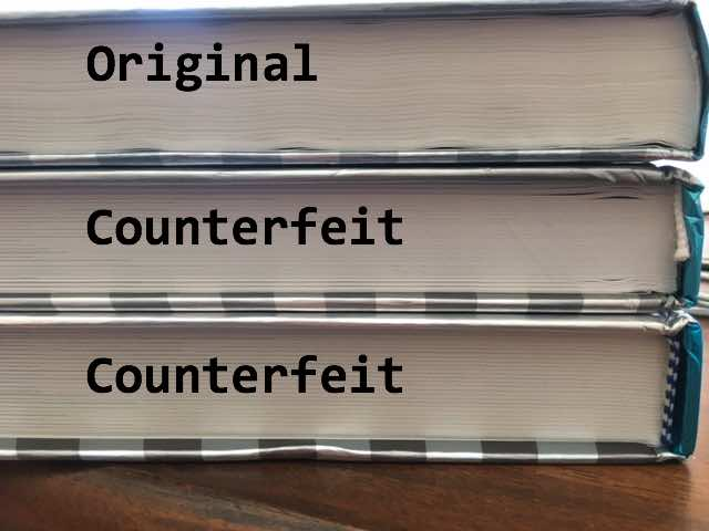 Counterfeit Textbook Binding