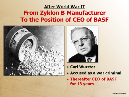 After World War II: From Zyklon B Manufacturer to the Position of CEO of BASF