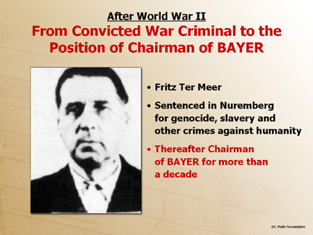 After World War II: From Convicted War Criminal to the Position of Chairman of Bayer