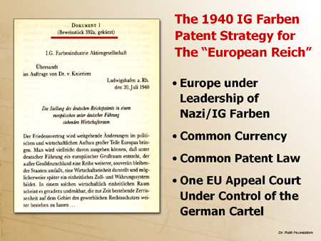 "The 1940 IG Farben Patent for the ""European Reich"""