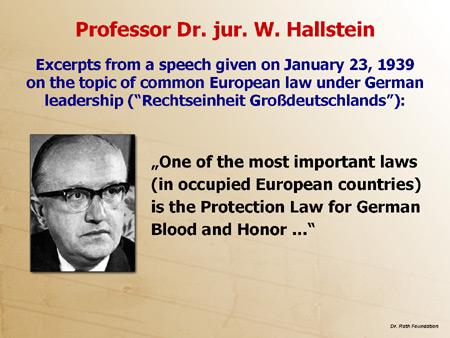 Professor Dr. jur. W. Hallstein
