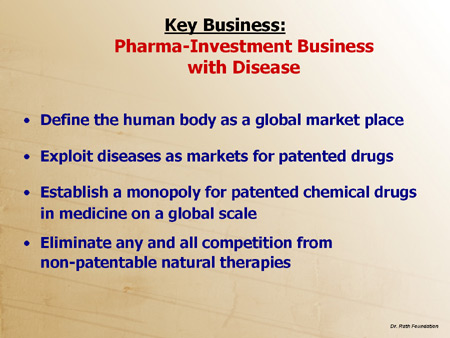 Key Business: Pharma-Investment Business with Disease