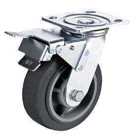 重型4―8寸人造胶tpr刹车脚轮