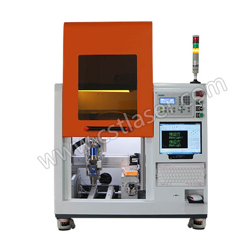 silver and gold Fiber Laser Cutting Machine