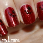 Dotted Ruby Nails