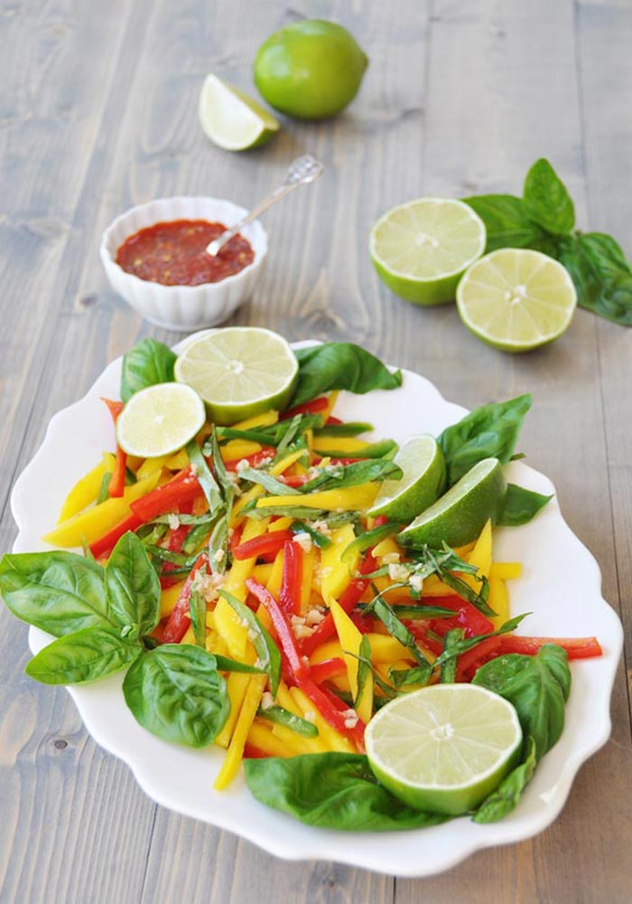 Thai Mango Salad with Ginger-Lime Dressing