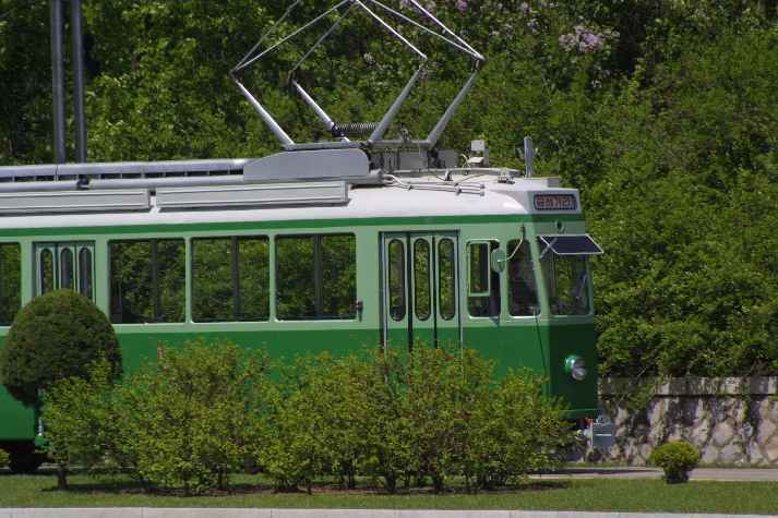 A well-maintained tram