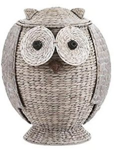 owl wicker hamper