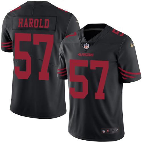 Men's Dre Greenlaw Red Home Elite Football Jersey: San Francisco 49ers #57 Vapor Untouchable  Jersey