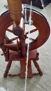 My first bit of spinning on the Wee Peggy,