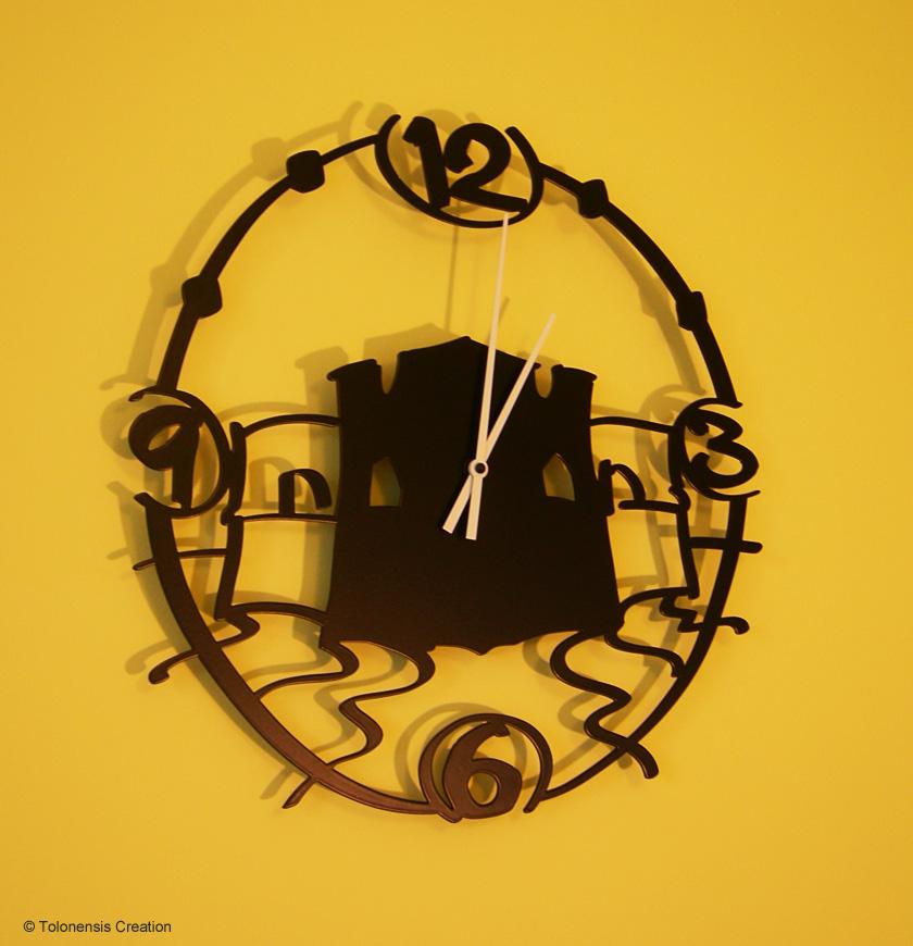 Horloge murale décoration Mourillon