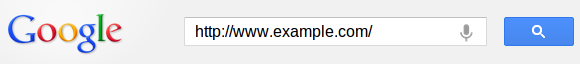 Google Example URL Search