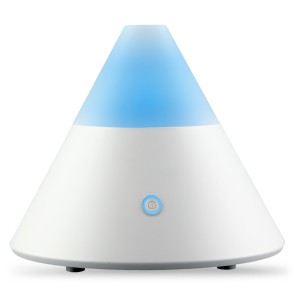 ZAQ Noor Essential Oil Diffuser LiteMist Ultrasonic Aromatherapy With Ionizer and Color-Changing Light