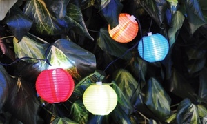 One or Two Sets of Ten Solar Cage Lantern String Lights