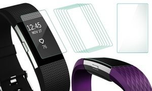 Six or Twelve Fitbit Charge 2 Screen Protectors