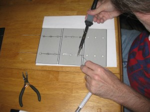 Soldering cells together