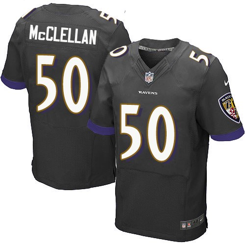 Men's Jordan Lasley Black Alternate Elite Football Jersey: Baltimore Ravens #17  Jersey
