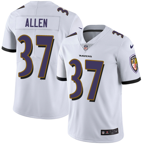 Youth Javorius Allen Purple Limited Football Jersey: Baltimore Ravens #37 Rush Drift Fashion  Jersey