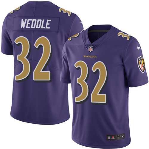 Men's Eric Weddle Purple Limited Football Jersey: Baltimore Ravens #32 Rush Vapor Untouchable  Jersey
