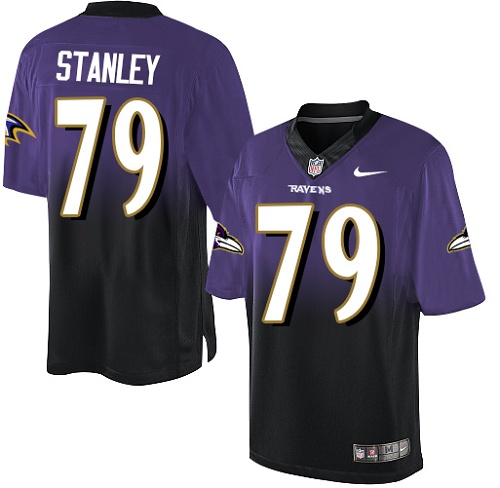 Men's Ronnie Stanley Purple/Black Elite Football Jersey: Baltimore Ravens #79 Fadeaway  Jersey