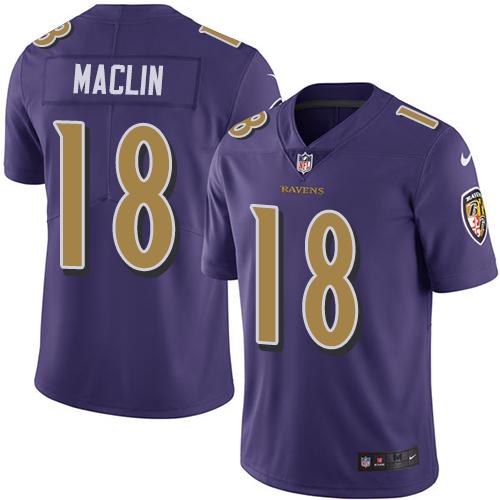 Women's Miles Boykin Purple Backer Football : Baltimore Ravens #80 Pullover Hoodie