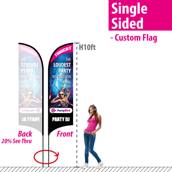 H10' Feather Banner - L size