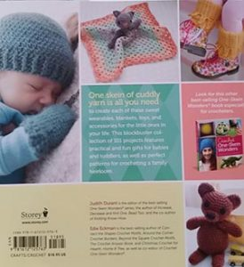 My pattern is the hat and mittens on the sleeping baby.
