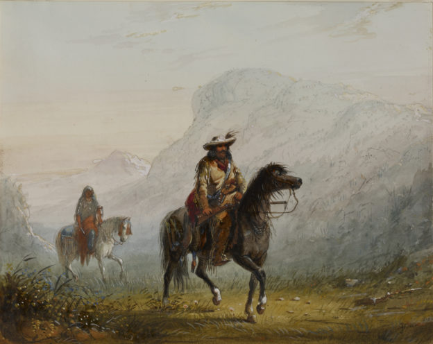 Alfred_Jacob_Miller_-_-Bourgeois-_W---r,_and_His_Squaw_-_Walters_37194078