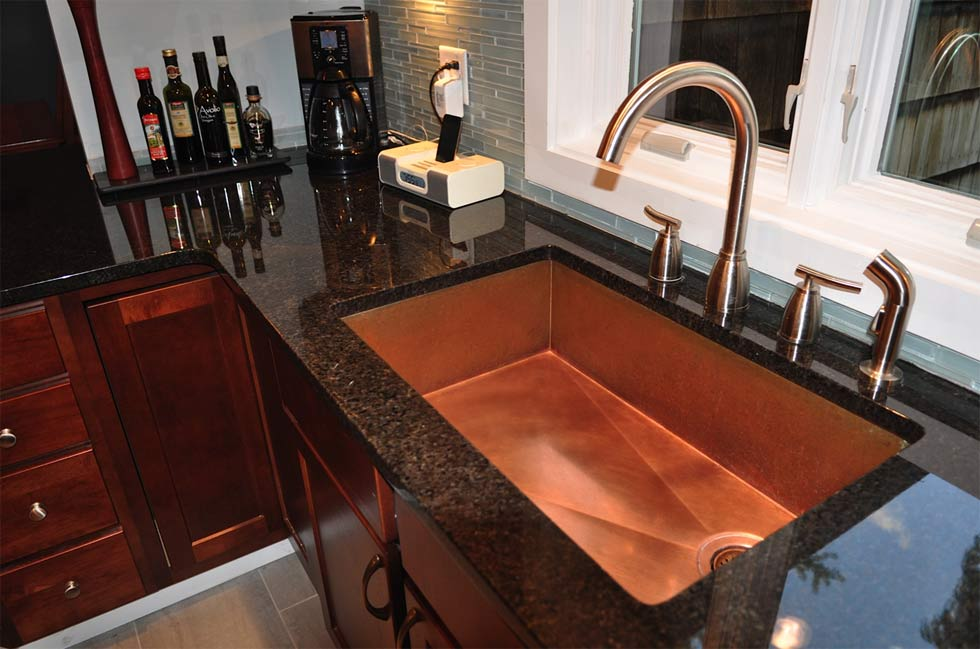 Image of: Copper Kitchen Sinks Undermount