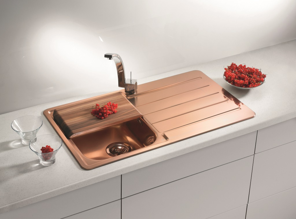 Image of: Cheap Copper Kitchen Sinks