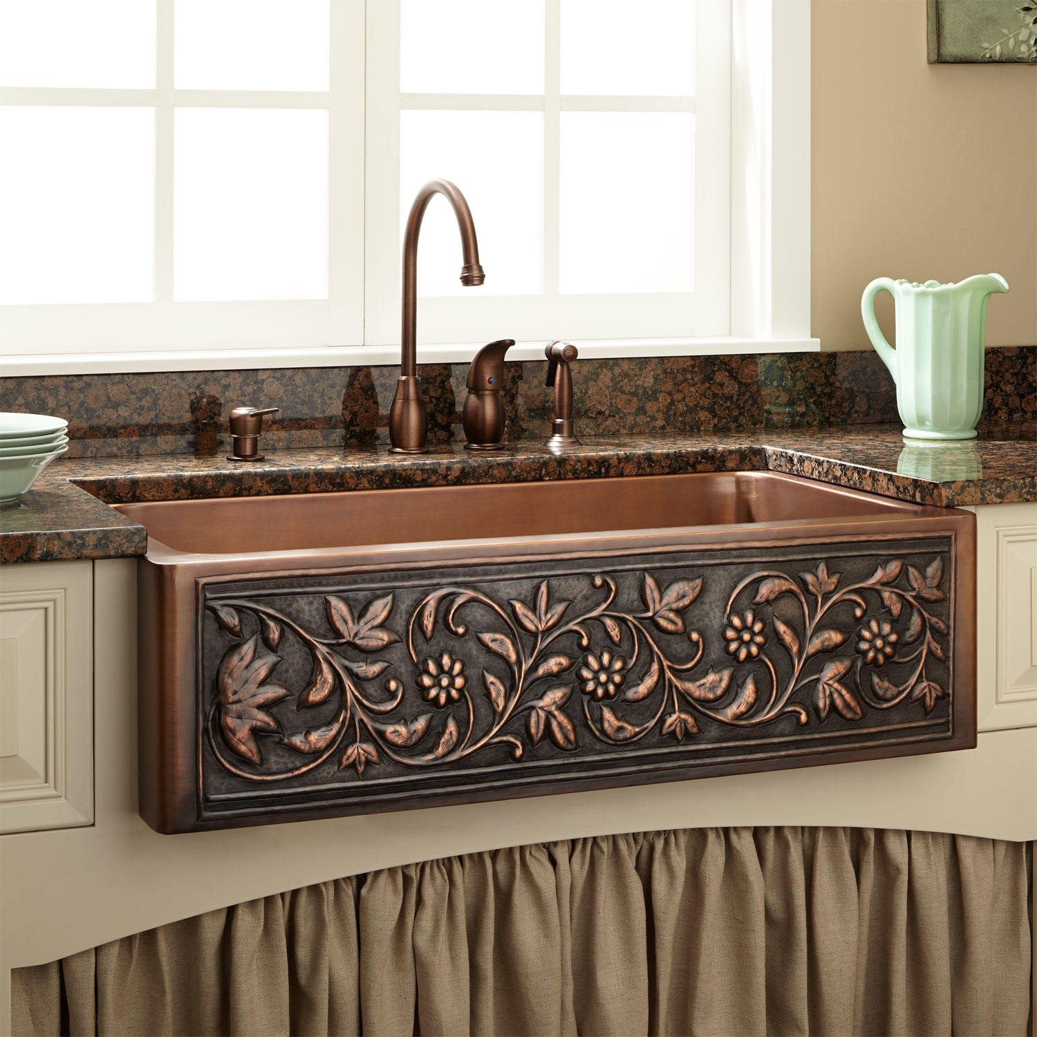 Image of: Copper Kitchen Sink
