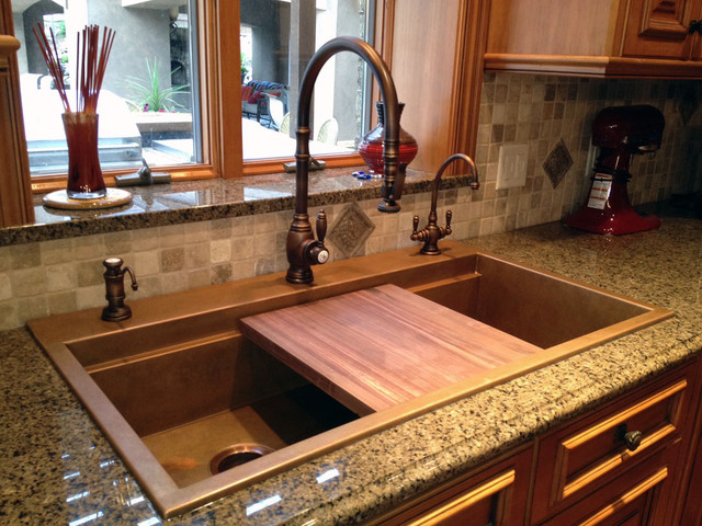 Image of: Copper Undermount Kitchen Sinks