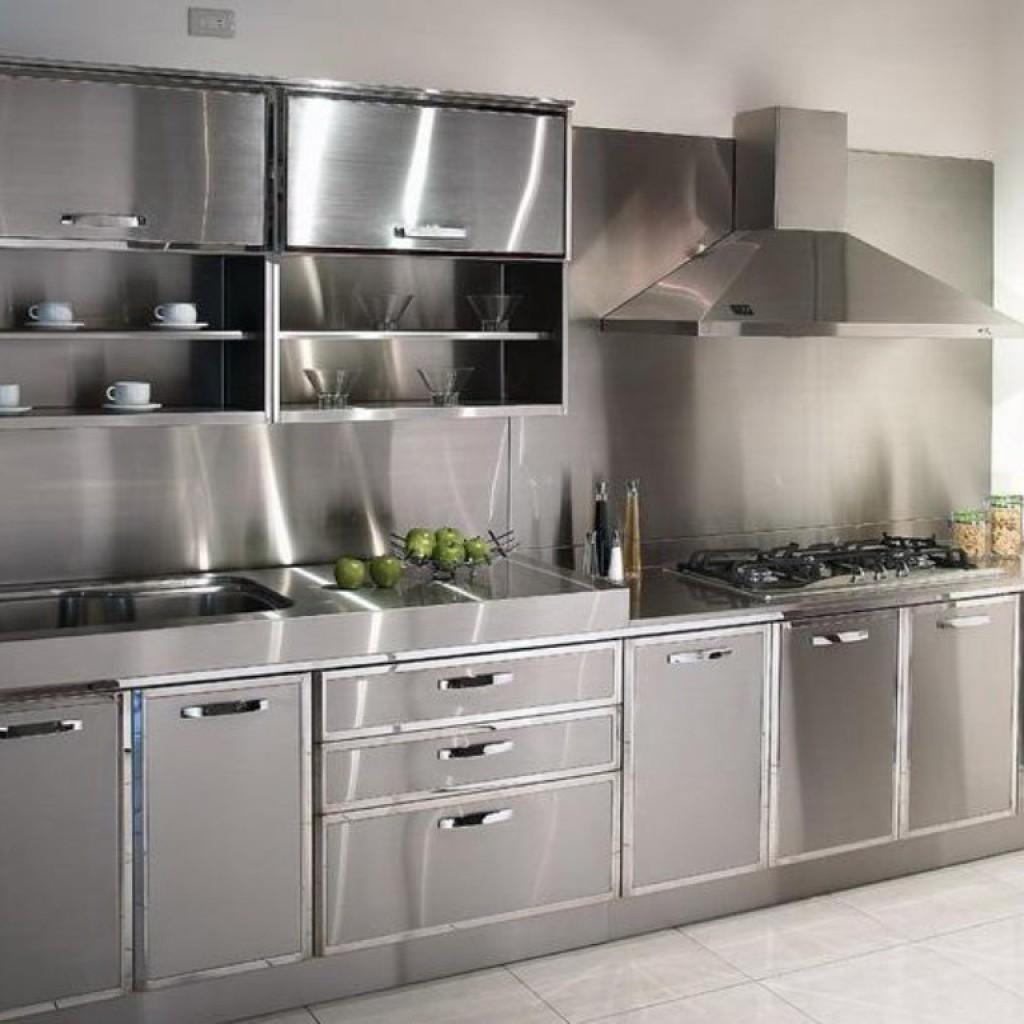 Image of: Stainless Steel Kitchen Cabinets Singapore