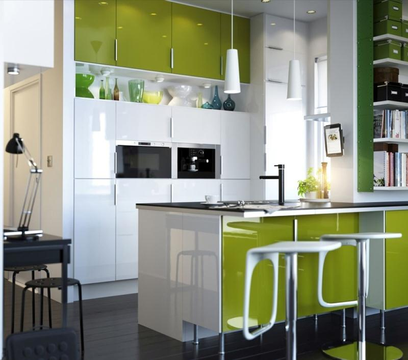 Image of: Kitchen Color Ideas for Small Space