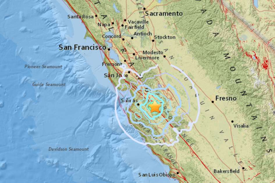 The United States Geological Survey reports a preliminary magnitude 4.7 earthquake struck near Gonzales, California on Monday.