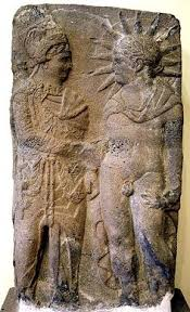 Mithras shaking hands with Helios