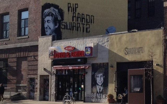 Aaron Swartz & Bradley Manning street art: Are free information icons a good thing?