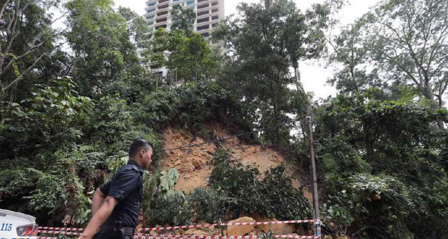 bangsar-road-reopens-after-landslip-but-residents-wary-of-hillslope-construction